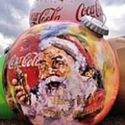 Coca Cola Christmas Bulbs Art Print