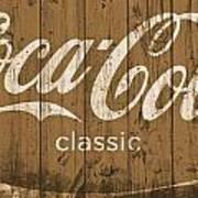 Coca Cola Classic Barn Art Print