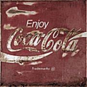 Coca Cola Faded Sign Art Print