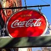 Coca Cola Sign In Georgia Art Print