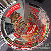 Coca Cola Signs In The Round Art Print