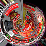 Coca Cola Signs In The Round Posterized Art Print