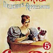 Coca - Cola Vintage Poster - Drink Delicious Refreshing Art Print