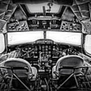 cockpit of a DC3 Dakota Art Print