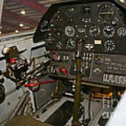 Cockpit Of A P-40e Warhawk Art Print