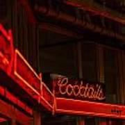 Cocktails In Neon Art Print