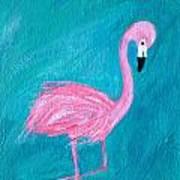 Cocky Flamingo Joe Art Print