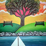 Coconut Grove Park Art Print