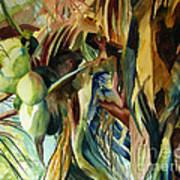 Coconuts And Palm Fronds 5-16-11 Julianne Felton Art Print