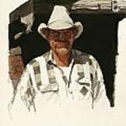 Cody Cowboy 2 Art Print
