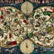 Coeletste Old World Map Art Print
