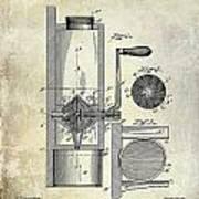 Coffee Mill Patent 1893 Art Print