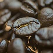 Coffee Beans Macro 3 Art Print