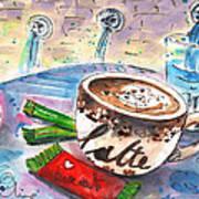 Coffee Break In Spili In Crete Art Print