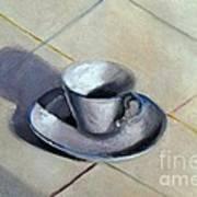 Coffee Cup Art Print by Kostas Koutsoukanidis