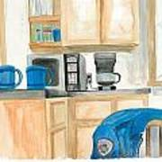 Coffee Cups On The Counter Art Print by Jeremiah Iannacci