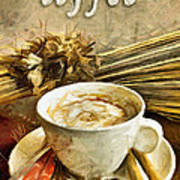 Coffee - Drawing Art Print