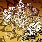 Coffee Flowers 10 Calypso Art Print
