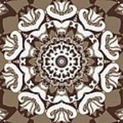 Coffee Flowers 10 Ornate Medallion Art Print by Angelina Vick
