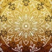 Coffee Flowers 11 Calypso Ornate Medallion Art Print