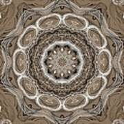 Coffee Flowers 2 Ornate Medallion Art Print