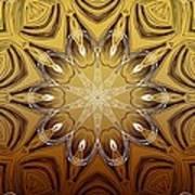 Coffee Flowers 4 Calypso Ornate Medallion Art Print