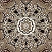 Coffee Flowers 5 Ornate Medallion Art Print
