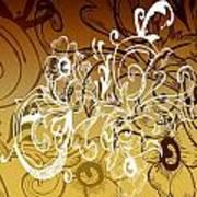 Coffee Flowers 7 Calypso Art Print