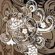 Coffee Flowers 8  Art Print