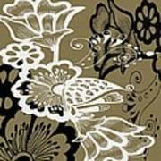 Coffee Flowers 9 Olive Art Print