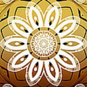 Coffee Flowers Calypso Triptych 2 Horizontal   Art Print