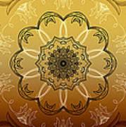 Coffee Flowers Calypso Triptych 4 Vertical Art Print