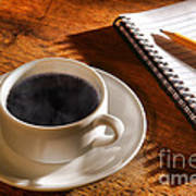 Coffee For The Writer Art Print