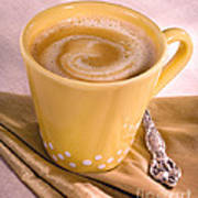 Coffee In Yellow Cup Art Print