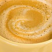 Coffee In Yellow Art Print