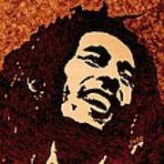 Coffee Painting Bob Marley Art Print