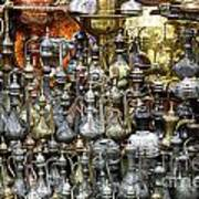 Coffee Pots At The Grand Bazaar In Istanbul Turkey Art Print