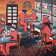 Coffee Shop Culture Art Print