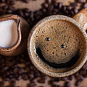Coffee With A Smile Art Print