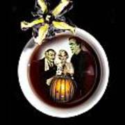 Coffee With The Munsters Art Print