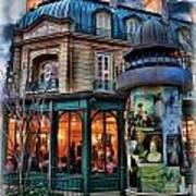 Coffeehouse - Belle Soiree Au Cafe Art Print