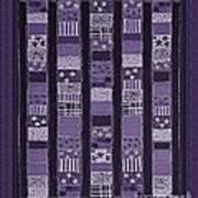 Coin Quilt -quilt Painting - Purple Patches Art Print