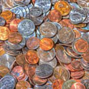 Coins Art Print
