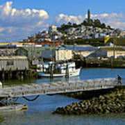 Coit Tower And Marina - San Francisco Art Print