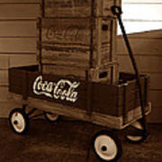 Coke Wagon Art Print