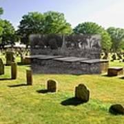 Col. Benjamin Church And Elisabeth Pabodie Gravesites In Little Compton Ri Art Print