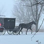 Cold Amish Morning Art Print