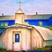 Cold Bay Chapel Art Print