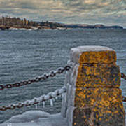 Cold Day On Superior Art Print