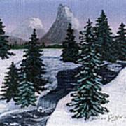 Cold Mountain Brook Art Print